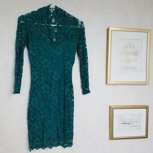 Asos teal lace dress!