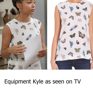 b001bbf581905c Equipment Tops - Equipment Kyle Silk Butterfly Blouse | Small