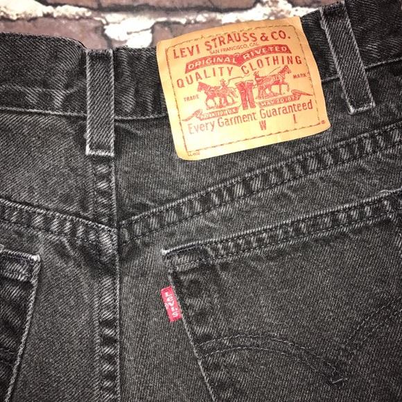 Levi S Vintage Fade Black Levi S Hi Waisted Denim Shorts From Nicole S Closet On Poshmark