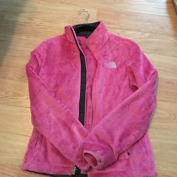 d7cc929d7 Women's XS hot pink fuzzy north face. NEW