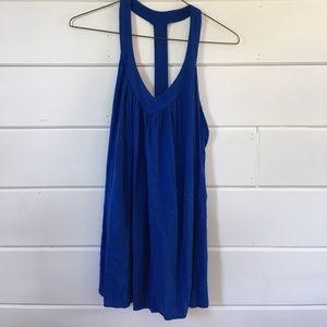 Blue T-strap Dress