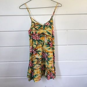 Tropical/Floral Print Dress