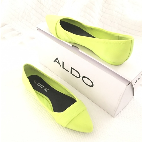 Aldo Shoes - ALDO MAIDA NEON FLATS 8.5