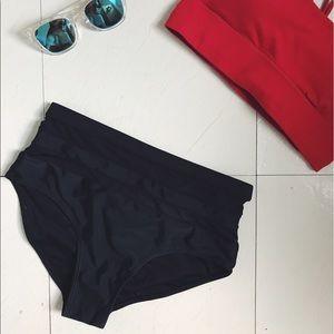 High waisted mesh bikini bottom