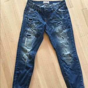 One Teaspoon Distressed 7/8 Jeans
