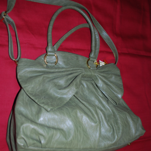 Big Buddha Green Purse with Bow