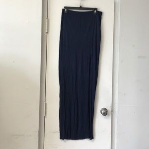 New Bella Luxx SZ M Navy Blue Maxi Skirt