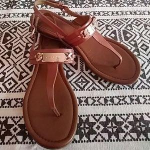 COACH Caterine Sandals - Saddle Size 8