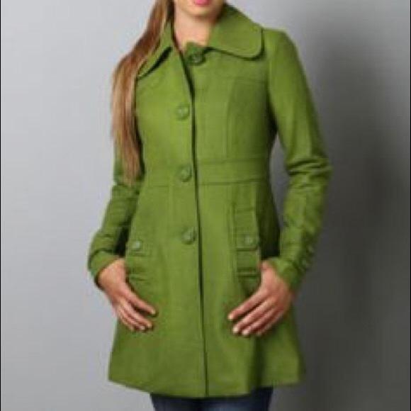 69% off Anthropologie Jackets & Blazers - Tulle | Green Wool Blend ...