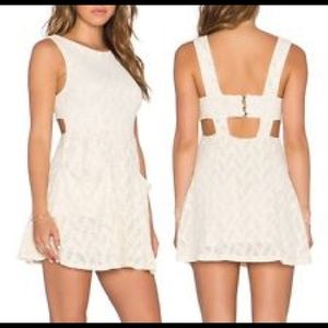 Free People dress with beautiful detail. Brand new
