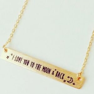 Price Drop❤️NWT Love you to the Moon Bar Necklace