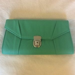Teal green clutch, NWOT