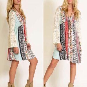 Dresses & Skirts - 🛍BESTSELLER🛍 Boho Peasant Dress Lace Sleeve