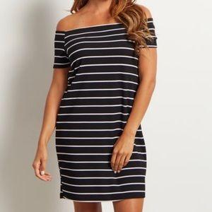 Pinkblush Maternity Off Shoulder Dress