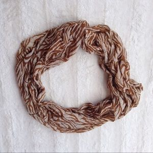 4 for $20 Brown and Cream Circle Scarf