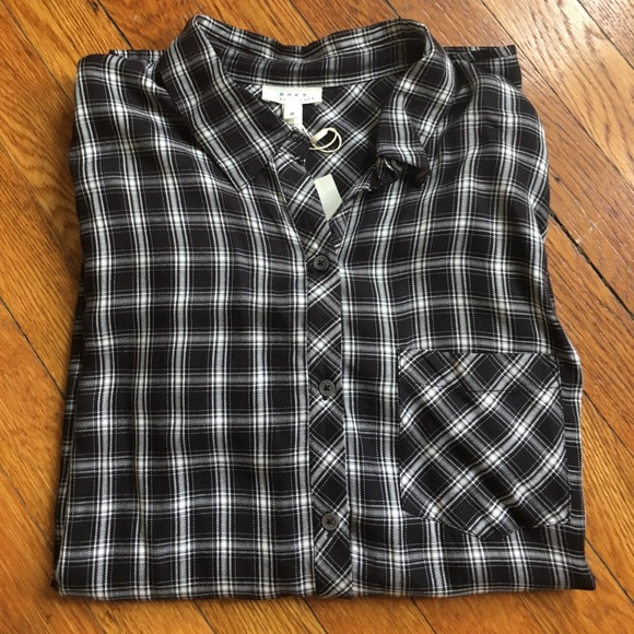 68 off joie tops soft joie plaid shirt size small nwt for Soft joie plaid shirt