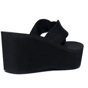 31b8bcf86 J. Adams Shoes - High platform foam sandal 7 wedge flip flop black