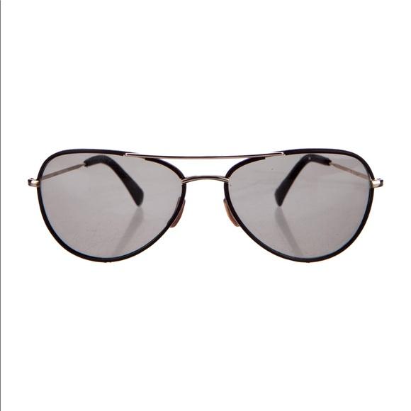 e5aafc0799 Rare Paul Smith Aviator Sunglasses PS-817L Leather.  M 596cf2c42de51285cb004267