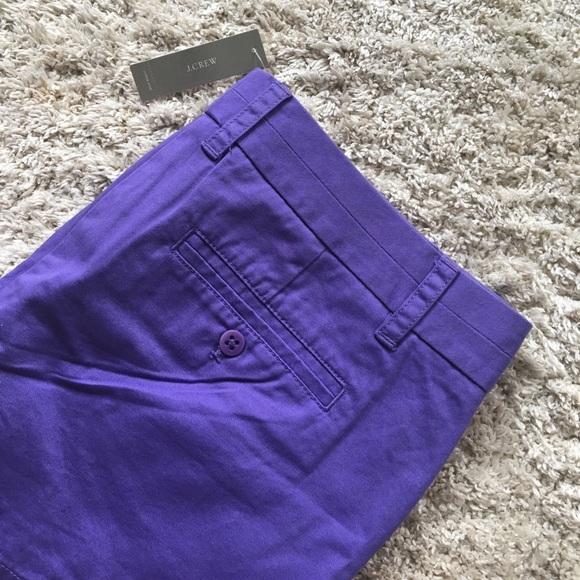 J. Crew Pants - Purple Cotton Chino Shorts
