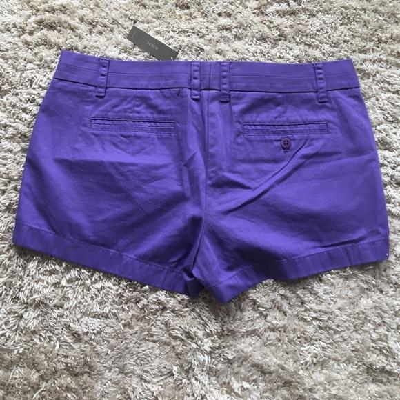 J. Crew Shorts - Purple Cotton Chino Shorts