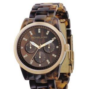 MICHAEL KORS boyfriend acrylic torte watch