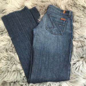 7 for all mankind rhinestone pocket jeans flynt