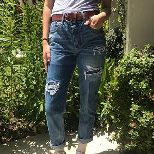 AEO Vintage Style Boyfriend Cut High Waisted Jeans