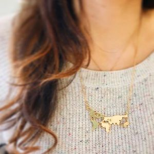 Map necklace NWT