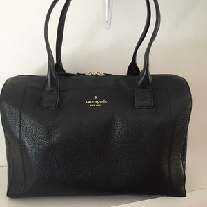 Kate Spade Mansfield Liv Black Satchel Bag