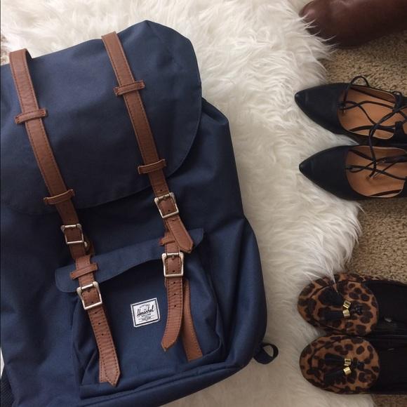 358f0e021fa Herschel Supply Company Handbags - Navy Blue Herschel Little America  Backpack