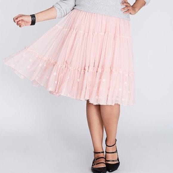 800c4785eb Lane Bryant Skirts | Pink Tulle Layered Skirt 1820 New | Poshmark