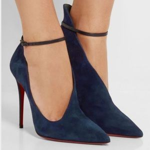 71a38e2598c7 Christian Louboutin Shoes - • Christian Louboutin • Vampydoly Suede Boots 39