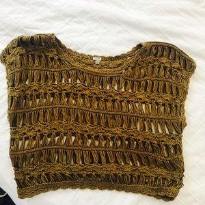 Forever 21 olive green crochet crop top
