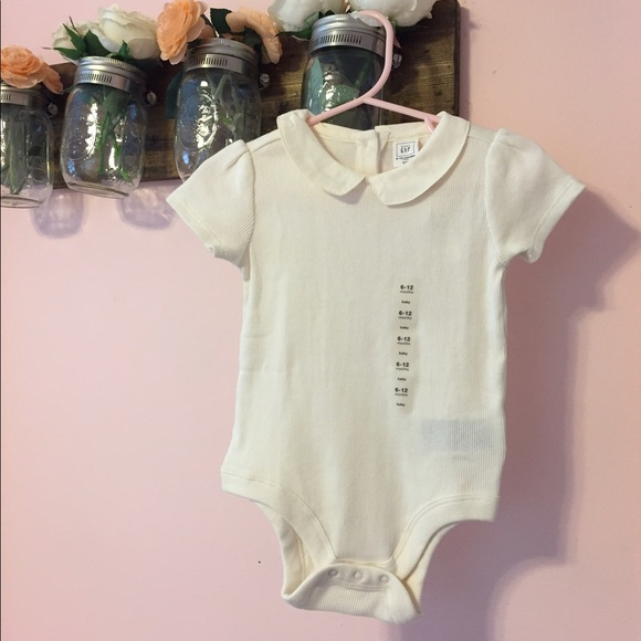 bec64919b baby Gap One Pieces | Clearing Out Ivory Onesie With Peter Pan ...