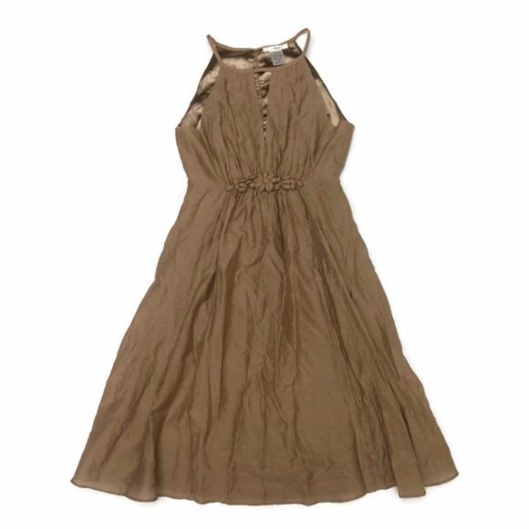 Esley Dresses | Beautiful Tan Evening Dress Size Small | Poshmark