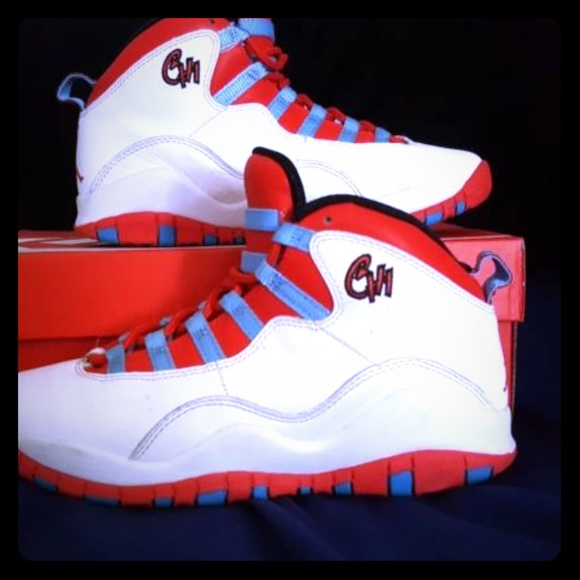 94ef68a4d6 Nike Air Jordan Retro 10 Chicago White Blue