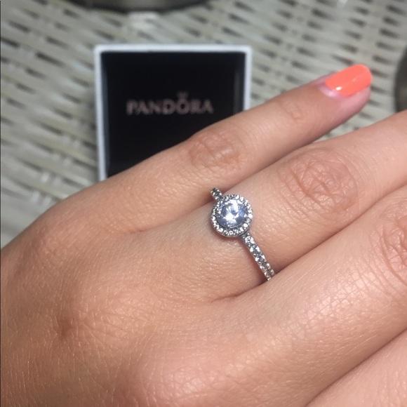 744587377 Pandora Jewelry   Classic Elegance Clear Cz Ring   Poshmark