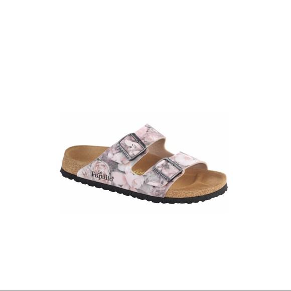 4c9d23e4482f Birkenstock Arizona Silky Rose Pink Floral Sandal