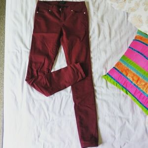 Maroon Soft feel cotton Jeans by forever21