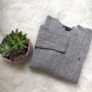 Ralph Lauren Lambswool Cable Knit Sweater