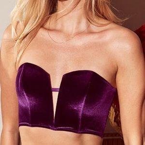 Bnwot Victoria Secret Velvet Purple Bustier Small