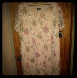 Dresses & Skirts - NWT Ivory floral plus size dress
