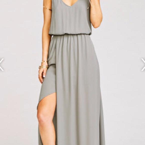 88a7d464b9448 Show Me Your MuMu Dresses | Kendall Maxi Dress Soft Charcoal Crisp ...