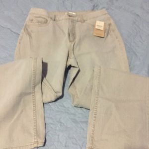 Coldwater Creek Tan Boot Cut Jeans Size 12