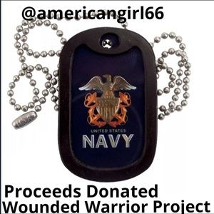 Other - 🎉2X 🅷🅿 Navy 🇺🇸Dog Tag