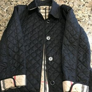 Authentic Burberry Quilted Black Jacket XL