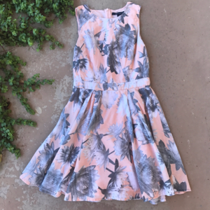 French Connection Pink Floral Fit N Flare Dress
