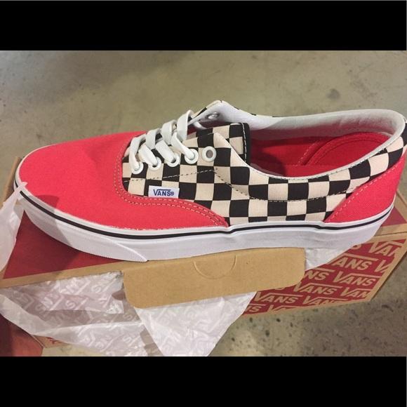 60dd34a72be3f Vans Era 2 Tone Checker Red White