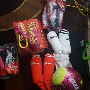 Other - Soccer girls cleats shin guards and socks