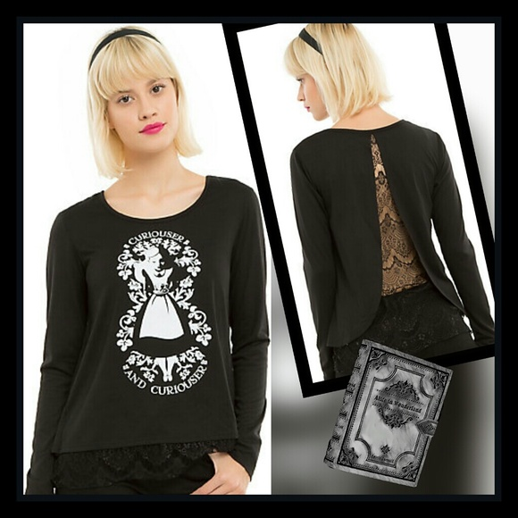 Disney Tops - DISNEY ALICE IN WONDERLAND CURIOUSER AND CURIOUSER
